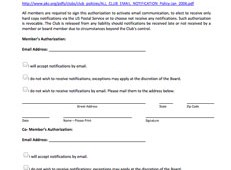 TBCC Authorization Use of Email